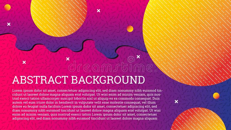 Abstract colorful background, memphis style. Modern vector backdrop for your design. Composition of trendy gradients and geometric royalty free illustration
