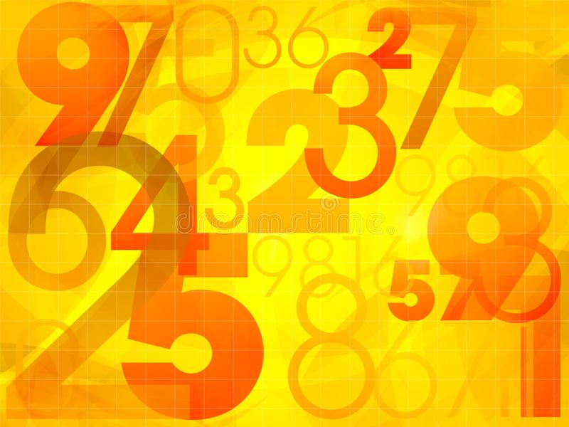 Download Abstract Colorful Background With Numbers Stock Illustration - Image: 24621774