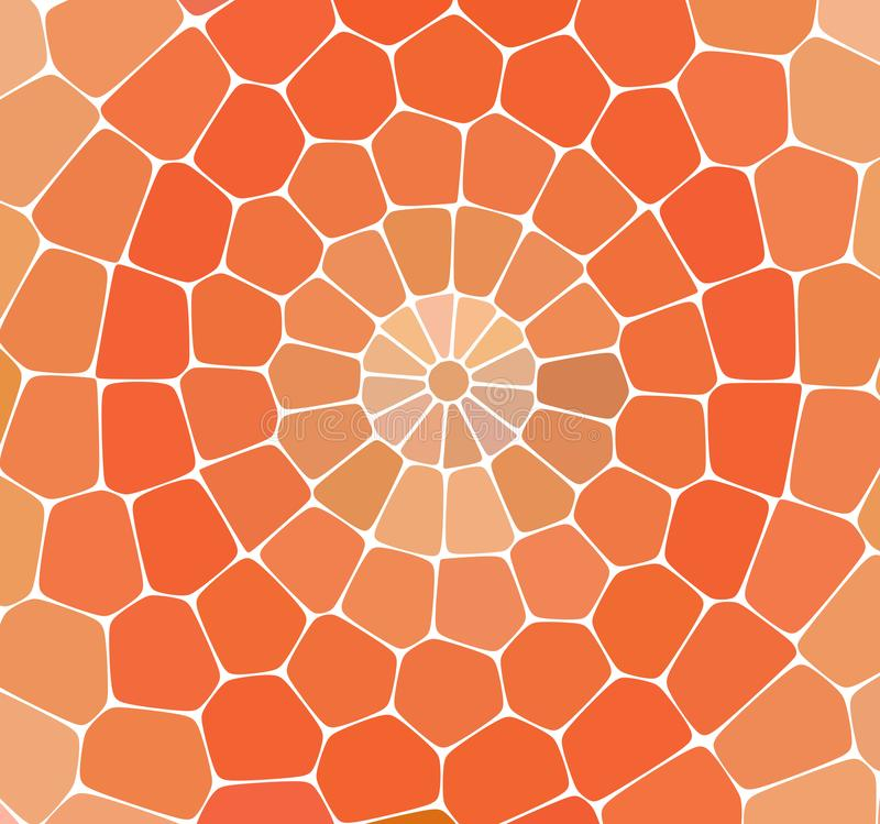Abstract colorful background. Orange marble mosaic flooring with natural stones. royalty free illustration