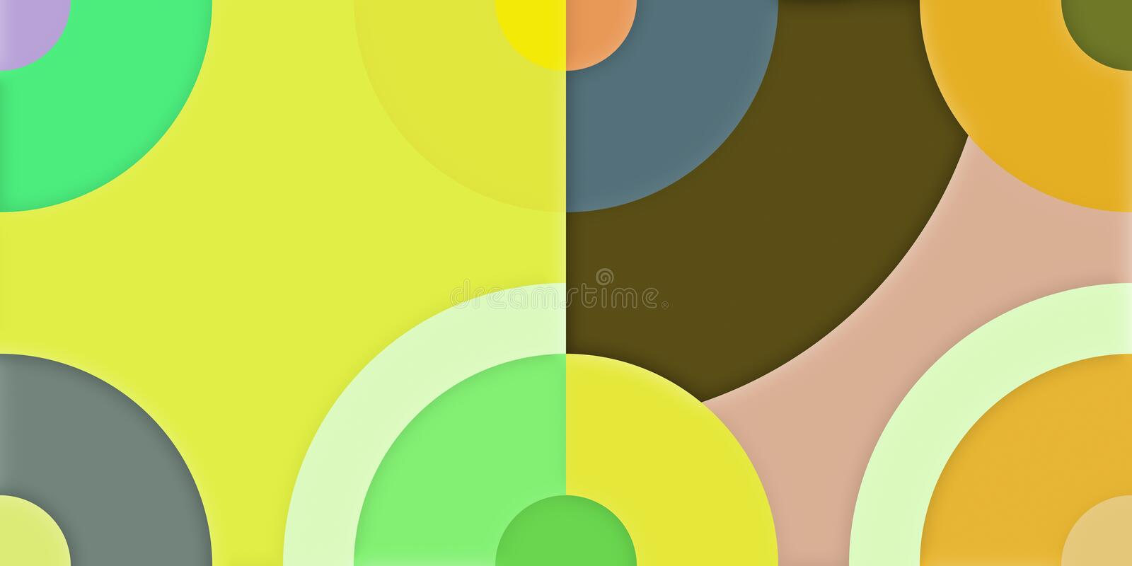 Abstract colorful background of radial graphics geometric background. Panorama ratio scale 8:4 vector illustration