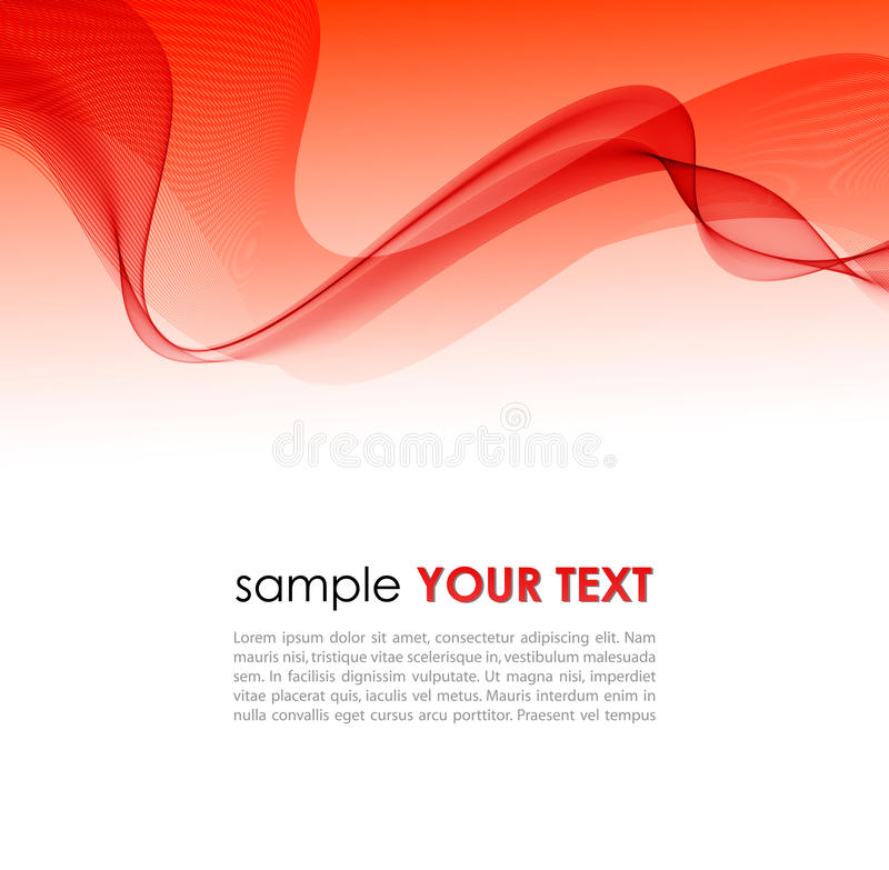Abstract colorful background with red smoke wave stock illustration