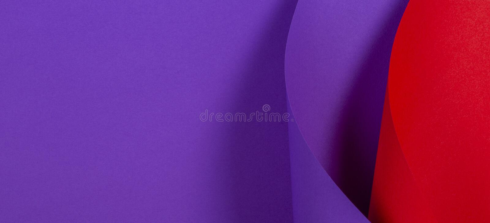 Abstract colorful background. Red violet purple color paper in geometric shapes.  royalty free stock photography