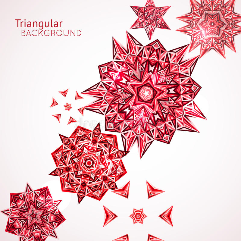 Abstract colorful background with techno triangles. Circles. Vector illustration royalty free illustration