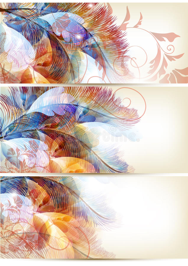 Abstract colorful backgrounds set. Floral vector Abstract colorful backgrounds set vector illustration