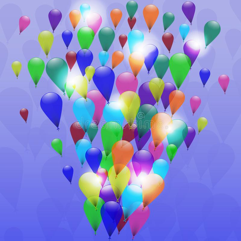 Abstract colorful balloons celebration background. Great for Christmas, birthdays or other celebrations. stock illustration