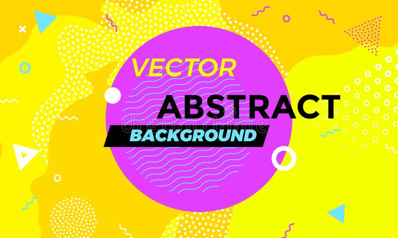 Abstract colorful banner background fun texture overlay geometric vector pattern royalty free illustration