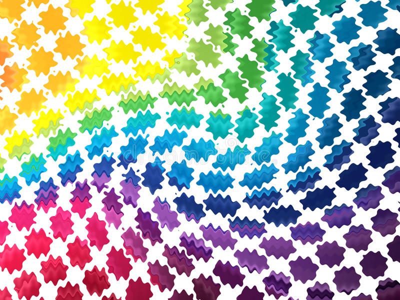 Abstract colorful blobs. Abstract rainbow background with blobs stock illustration