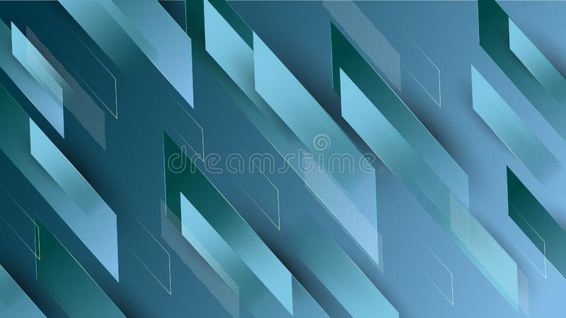Abstract colorful blue geometrical background stock illustration