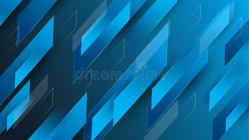 Abstract colorful blue geometrical background vector illustration