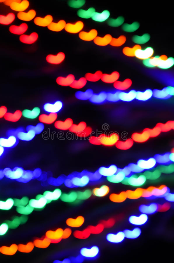 Abstract colorful blurred background heart shapes royalty free stock photo