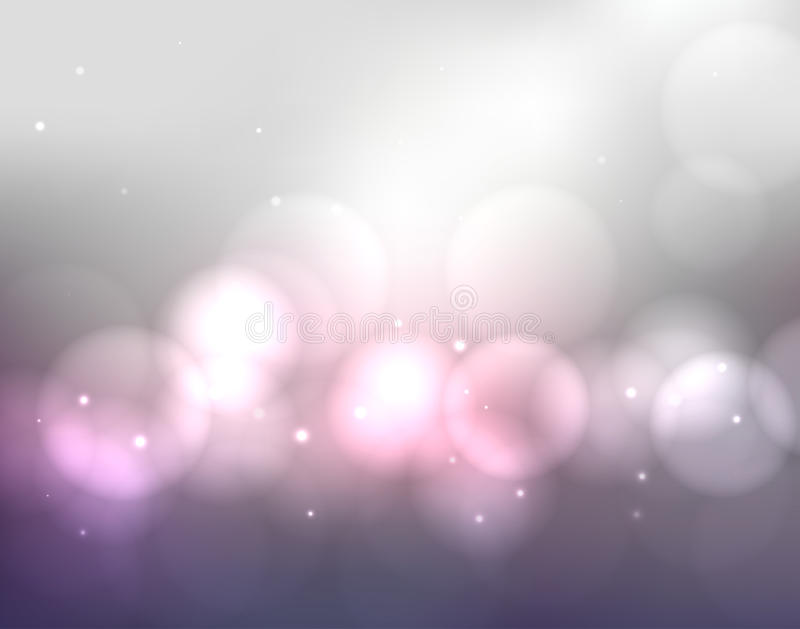 Abstract colorful blurred background with lights and bokeh stock illustration