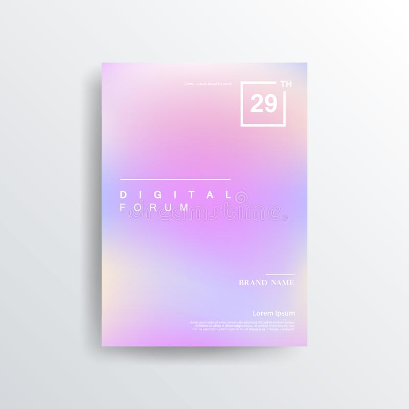 Colorful color brochure design, abstract cover design, iridescent background. Abstract colorful blurred vector backgrounds. Elements for your website or stock illustration