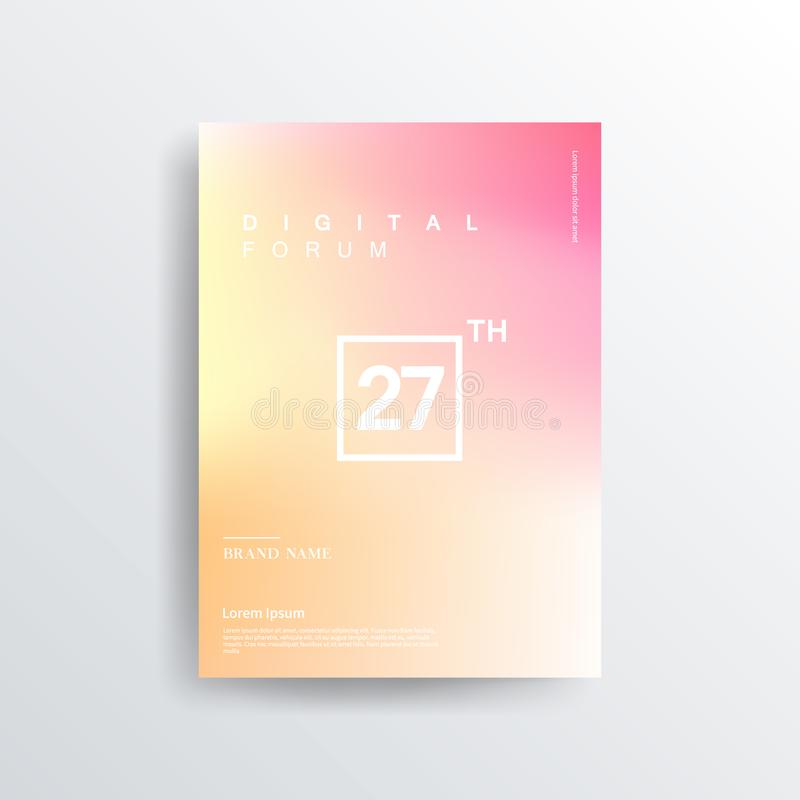Colorful color brochure design, abstract cover design, iridescent background. Abstract colorful blurred vector backgrounds. Elements for your website or royalty free illustration