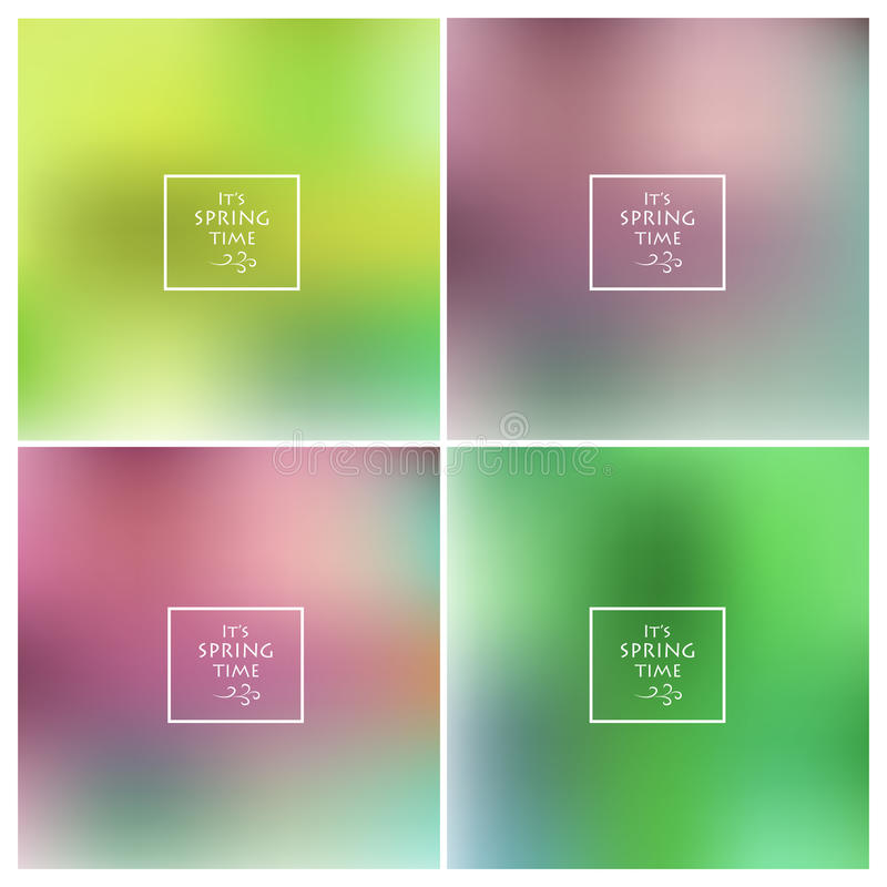 Abstract colorful blurred vector backgrounds set royalty free illustration