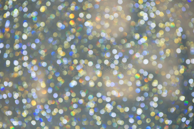 Abstract colorful Bokeh circles Christmas background stock images