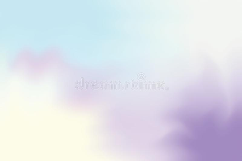 Abstract colorful bright color soft paint brush art background, multi colorful painting art acrylic water color wallpaper pastel stock illustration
