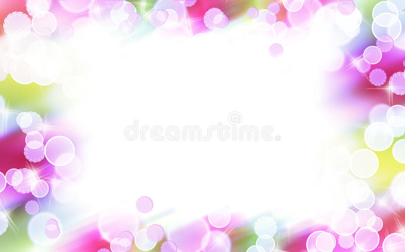 Abstract colorful bubble border vector illustration