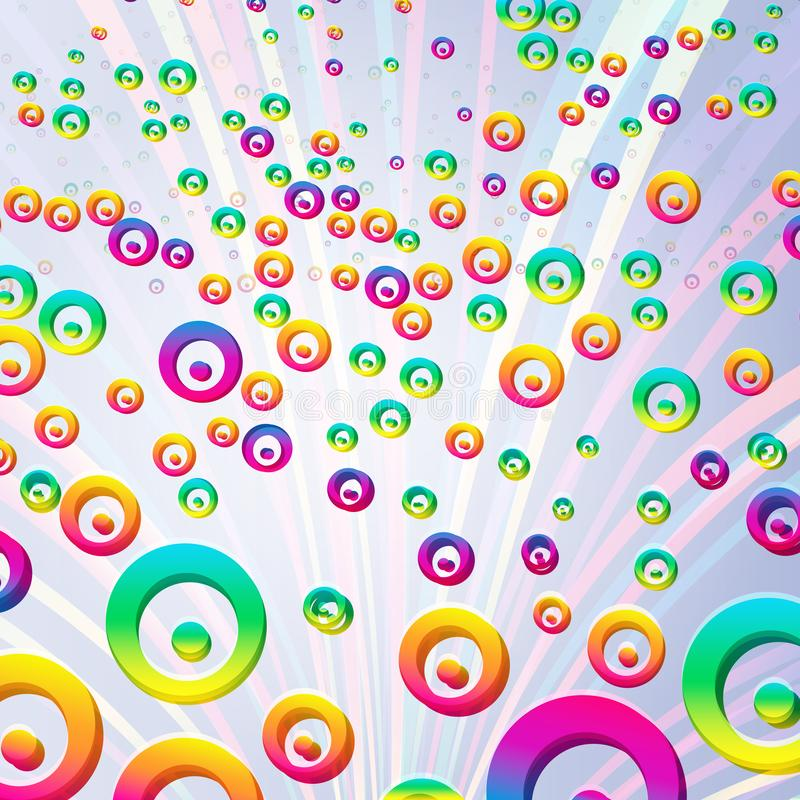 Abstract colorful bubbles background. Vector. Illustration stock illustration