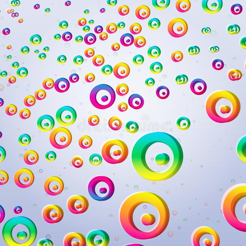 Abstract colorful bubbles background. Vector illustration stock illustration