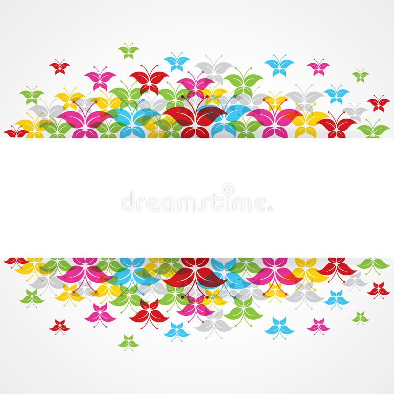 Abstract colorful butterfly design with copy-space stock illustration