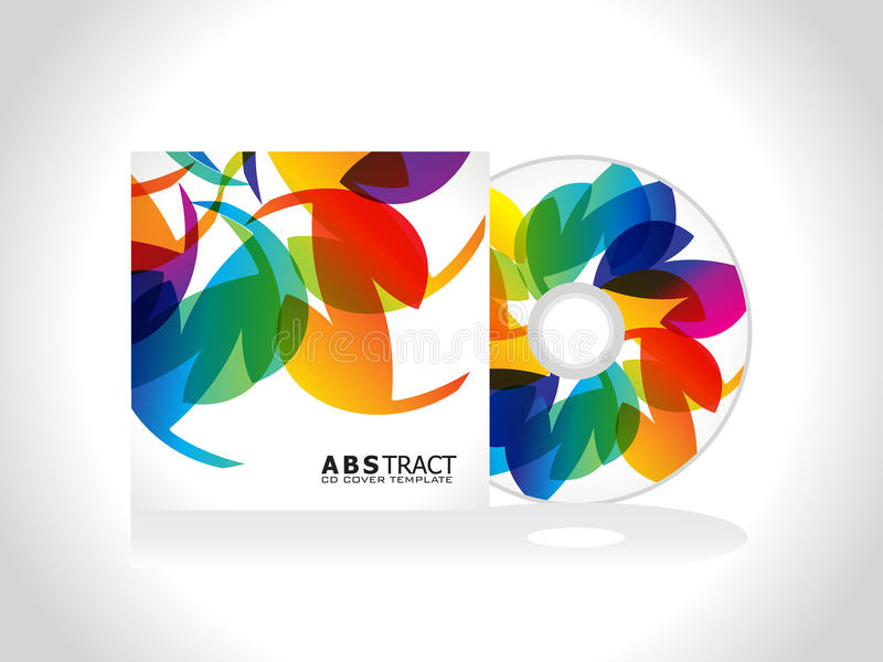 Abstract colorful cd cover template. Vector illustration stock illustration
