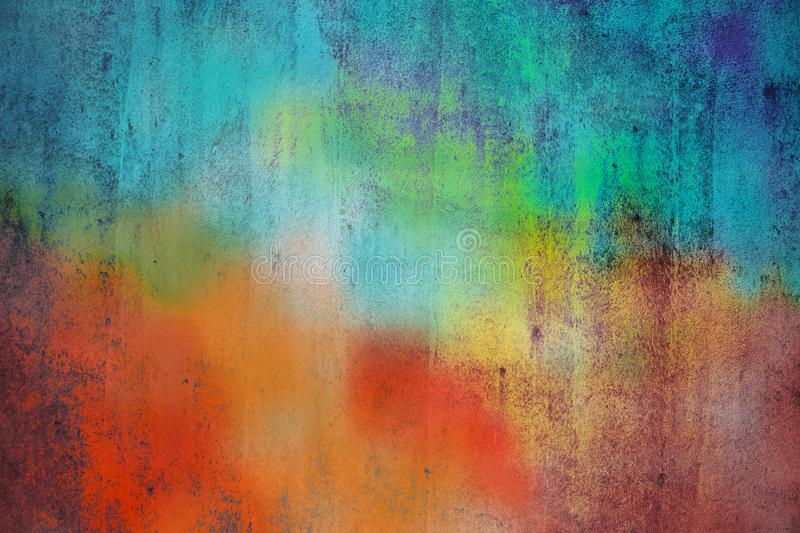 Abstract colorful cement wall texture and background stock image