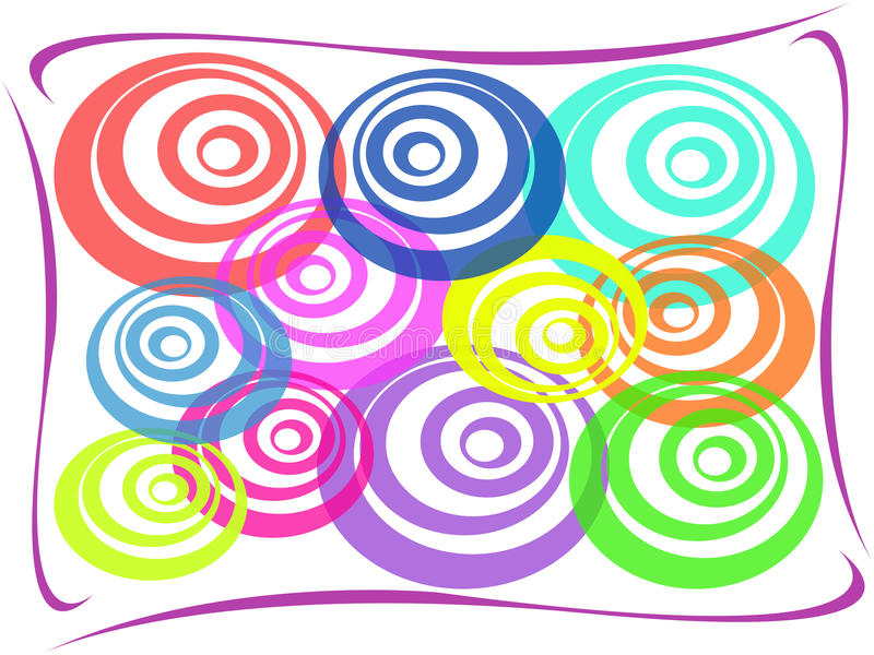 Abstract colorful circle background. Multi-colored abstract cirle on white background stock illustration