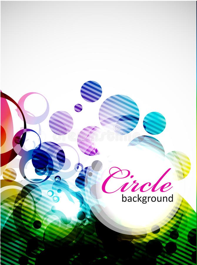 Abstract colorful circle design royalty free illustration