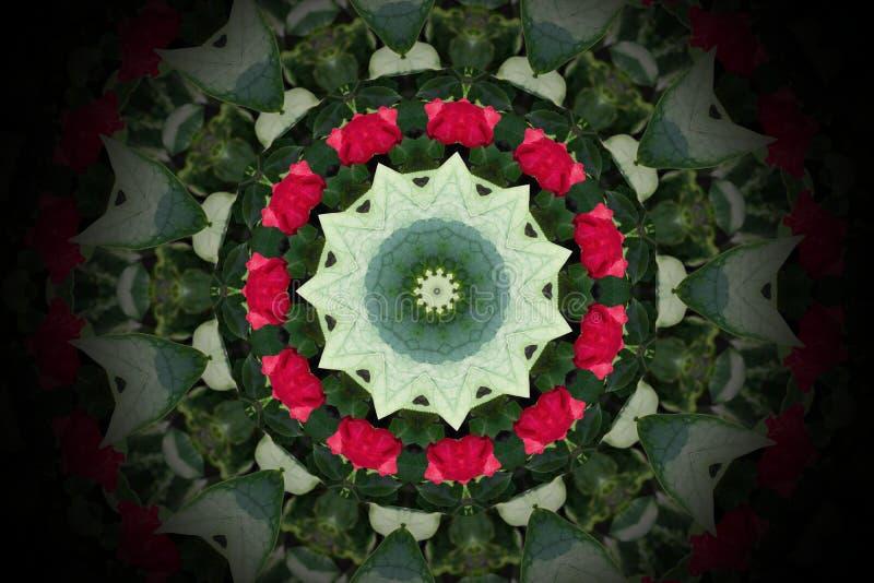 Abstract colorful circle mandala and kaleidoscope pattern for ba stock illustration