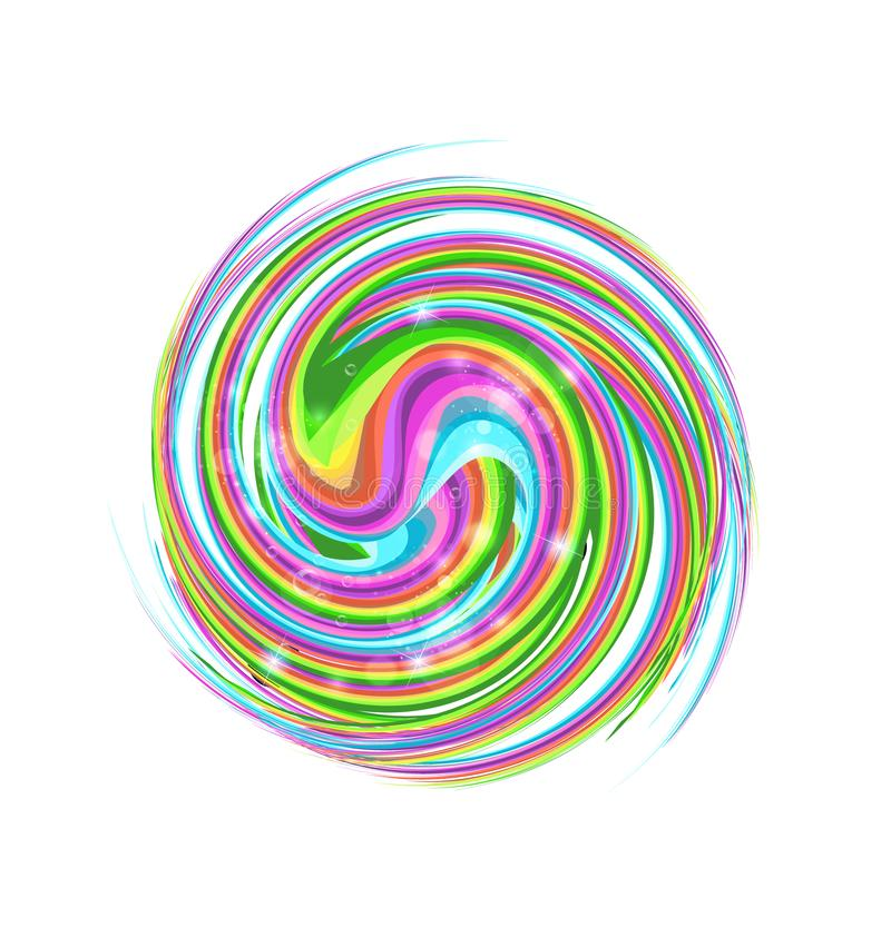 Abstract colorful circle swirl royalty free illustration