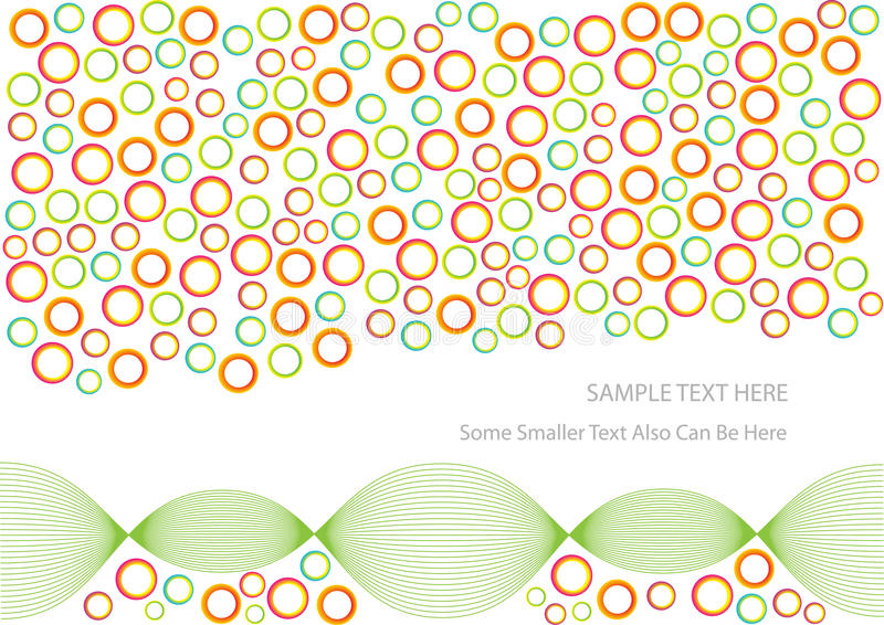 Abstract colorful circles background royalty free illustration