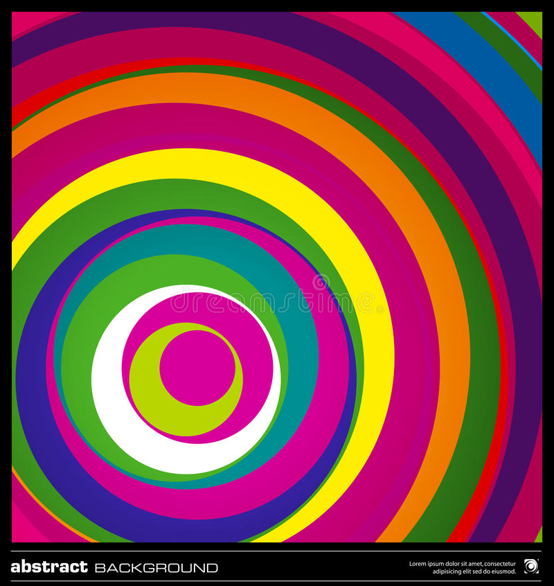 Abstract colorful circles background . vector illustration