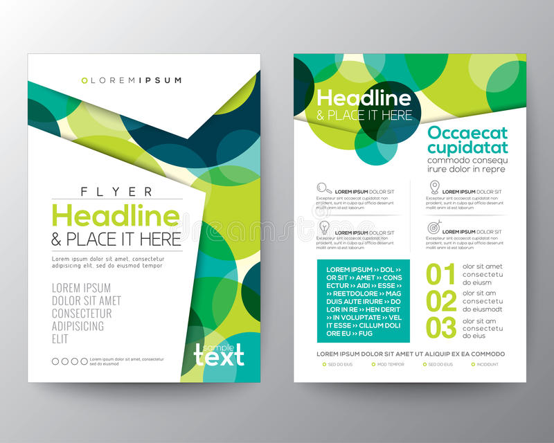 Abstract colorful circles background for Poster Brochure Flyer royalty free illustration