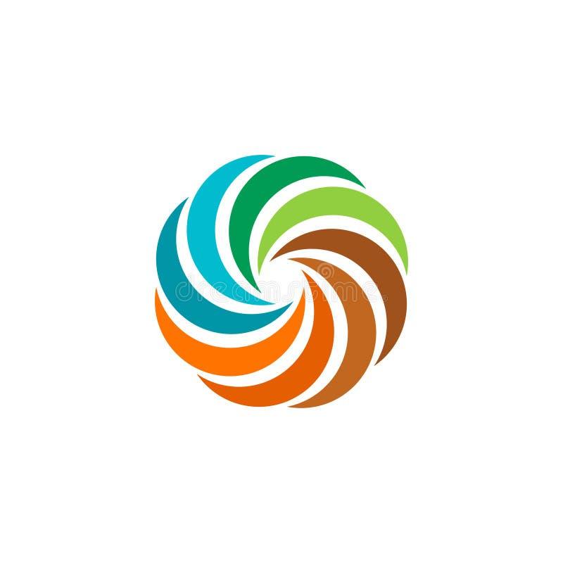 abstract colorful circular sun logo round shape rainbow logotype rh dreamstime com Circle Swirl Logo Circle Swirl Clip Art