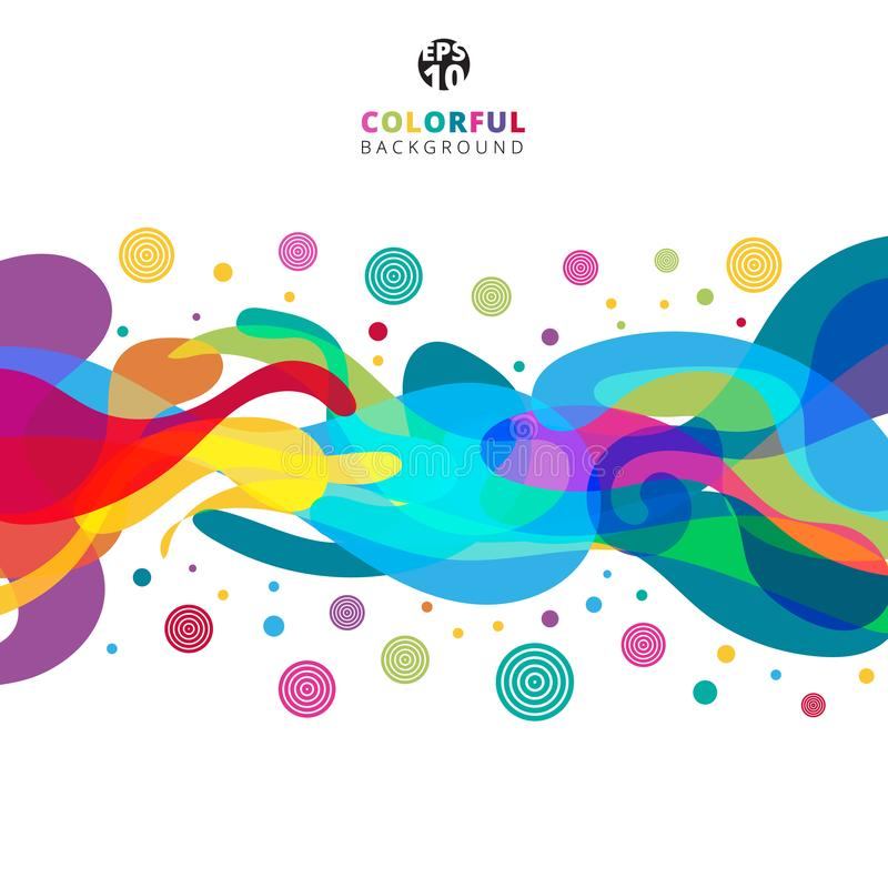 Abstract colorful color splash on white background with copy spa. Ce. Vector illustration royalty free illustration