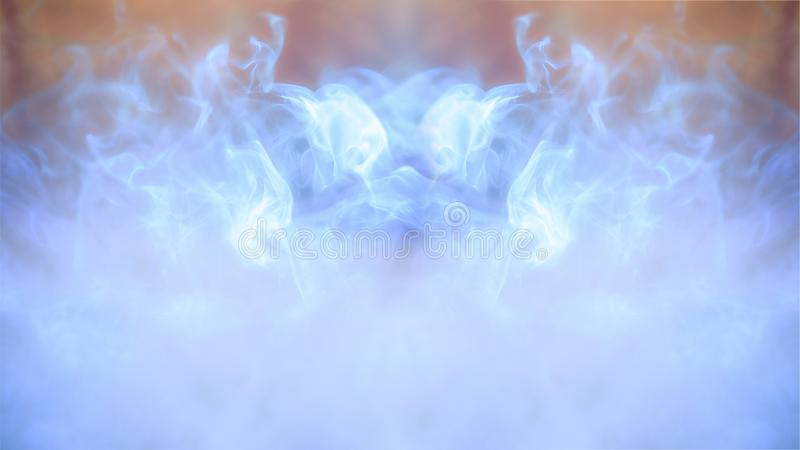 Abstract colorful defocus background, light and smoke royalty free illustration
