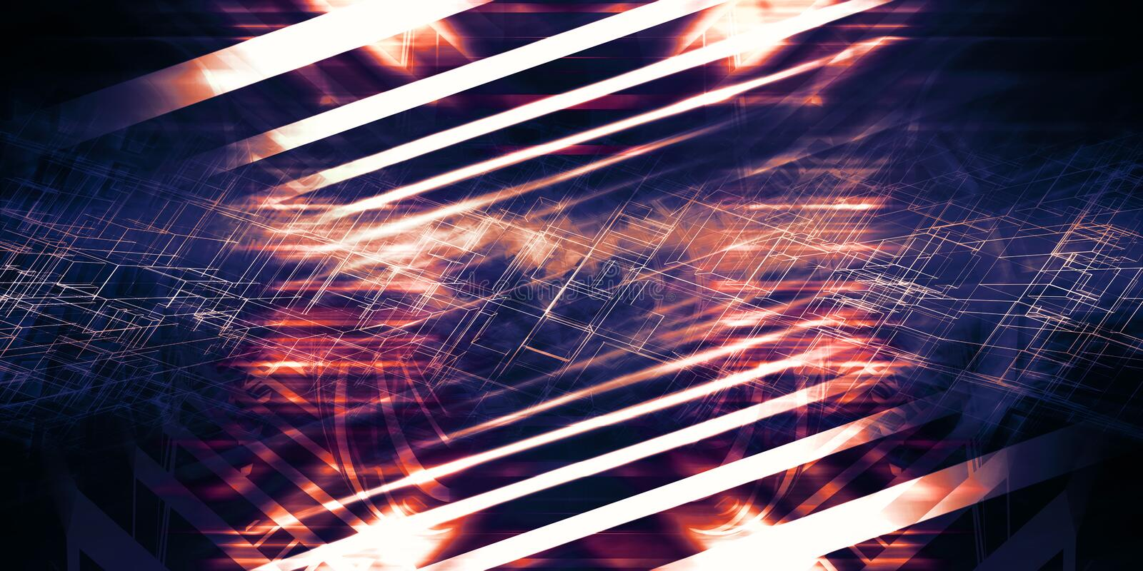 Abstract colorful digital background 3d stock illustration
