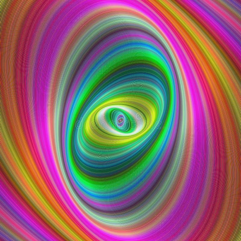 Abstract colorful elliptical geometric digital art stock photo