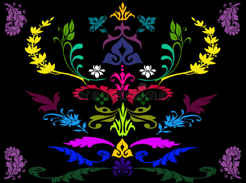 Abstract colorful flora background vector illustration