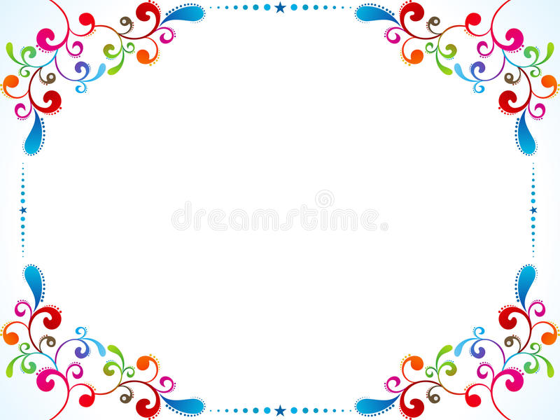 abstract colorful floral border stock vector paper clip clipart png clipart paper clip