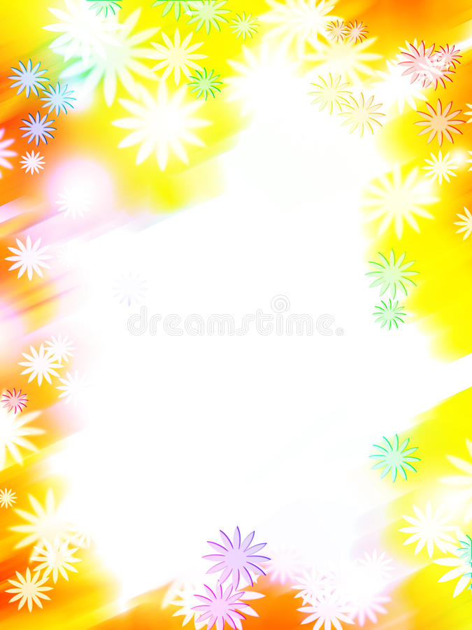 Free Abstract Colorful Flower Border Stock Images - 12780124