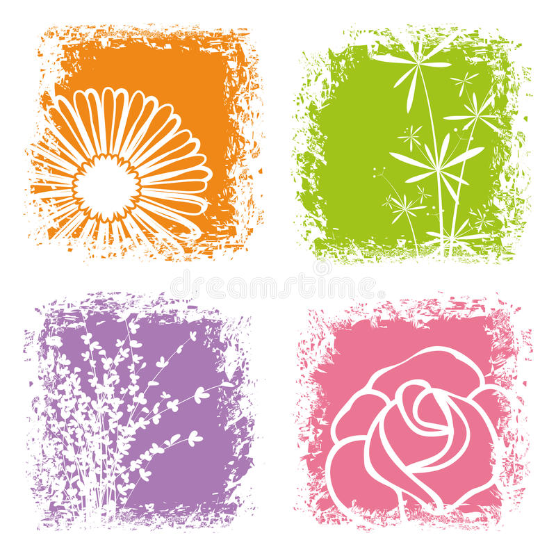 Abstract colorful flower on white background vector illustration