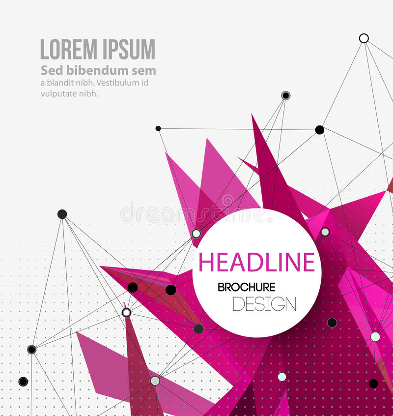 Abstract colorful geometric background. Brochure royalty free illustration