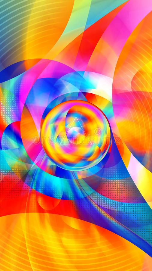 Abstract colorful geometric background - 8K resolution stock illustration