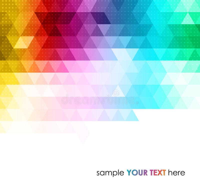 Abstract colorful geometric background stock illustration