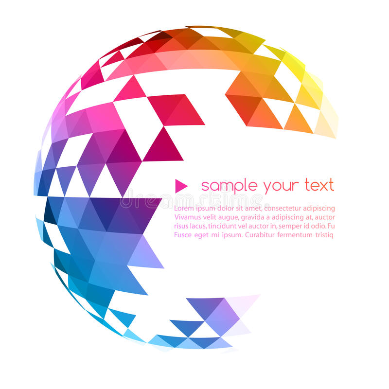 Abstract colorful geometric background vector illustration