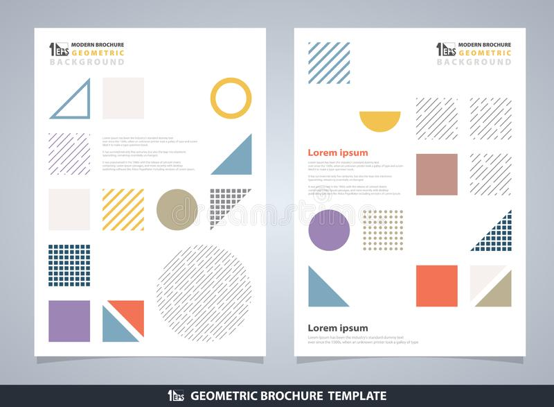 Abstract colorful geometric brochure. Modern design of geometrical elements pattern stock illustration