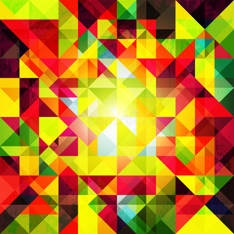 Abstract Colorful Geometric Grunge Background stock illustration