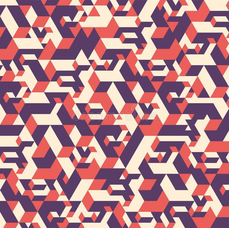 Abstract colorful geometric isometric pattern backgrounds stock illustration