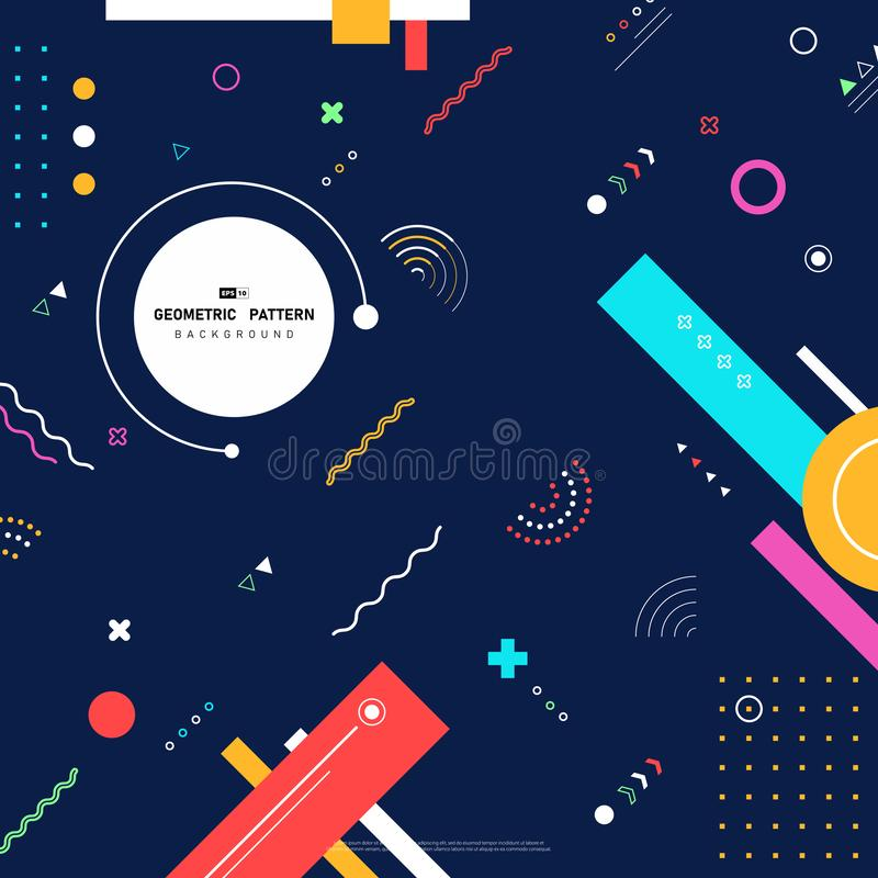 Abstract colorful of geometric pattern as elements design background 插图矢量图eps10 库存例证